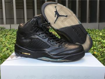 e2cf59fe4eb Nike Air Jordan V 5 Retro Men Basketball Shoes Premium Pinnacle Black 881432 -010
