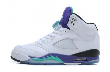 7eb229add351e7 Nike Air Jordan V 5 Retro White Emerald Green Grape Ice Men Women GS Shoes  136027 108