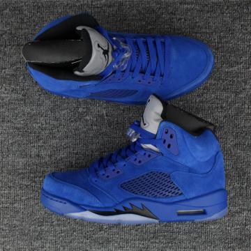 3324c9aed1a082 Nike Air Jordan V 5 Retro blue raging bulls Basketball Shoes 136027-401
