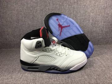 88066ce4b1252f Nike Air Jordan V 5 Retro white cement Men Basketball Shoes