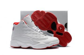 buy online 627bd 1dee2 Nike Air Jordan XIII 13 Retro Kid white red basketball Shoes 414571-103