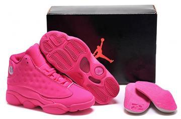 2041f2308fa616 Nike Air Jordan 13 Retro Hyper Pink Rose AJXIII GS Women Shoes 439358