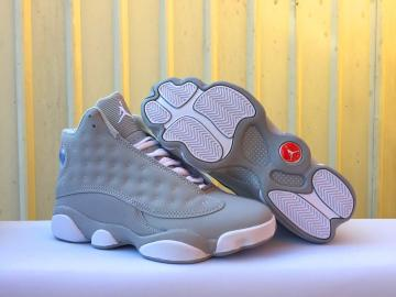 54874e700fd Nike Air Jordan XIII 13 Unisex Basketball Shoes Light Grey White 414571