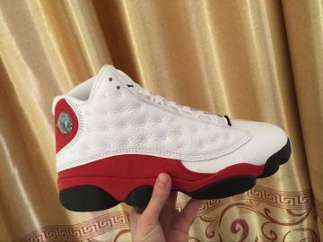 23873a3b08ecbf Nike Air Jordan XIII Retro 13 Cherry Chicago White Red Men Basketball Shoes  414571-122