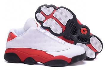 new style b85ad a2e42 Nike Air Jordan XIII 13 Retro Low Men Varsity Red White 310810 105