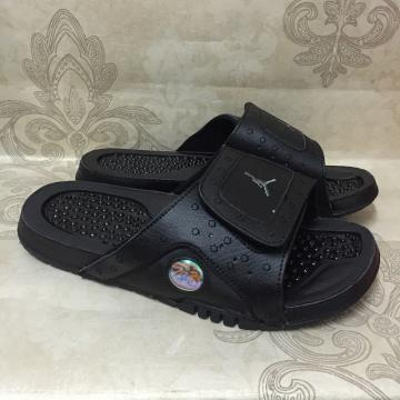 d78ee03e582 Nike AIR JORDAN HYDRO XIII 13 RETRO black anthracite men sports slippers  684915-011