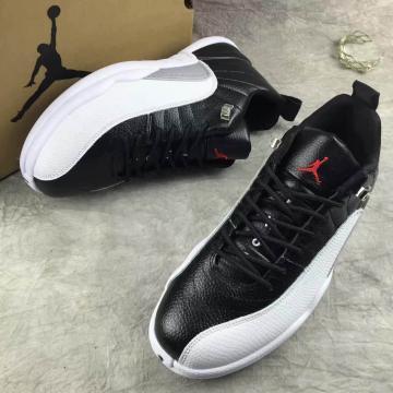 762239229a27 Nike Air Jordan Retro XII 12 Low Black White Men Shoes 308317