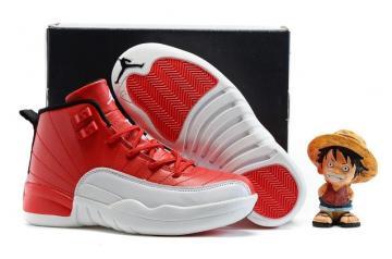 9e3703fc9354 Nike Air Jordan 12 Retro Cherry White Kid Shoes 153265 110 New