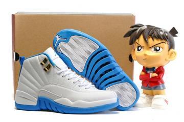 50771f560cc784 Nike Air Jordan 12 Retro GG GS Melo UNC White Gold University Blue  510815-127