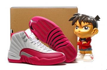 7eeeb488699048 Nike Air Jordan 12 XII Valentines Day Girls Women Retro Vivid Pink White  510815-109