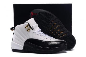 f80a44e79d590b Nike Air Jordan XII 12 Retro White Black Taxi Red Men Shoes 130690 125