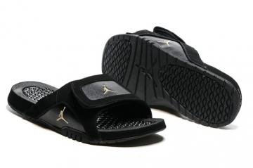 ebbc20b07 Nike Jordan Hydro XII Retro Men Sandals Slides Black Gold 820265-012