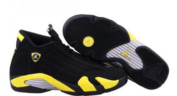 0ae45eded01379 Nike Air Jordan 14 XIV Thunder Black Vibrant Yellow 487471 070