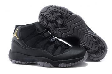 31326ffdae1cc1 Nike Air Jordan XI 11 Retro Black Gold Men Shoes 378037 007