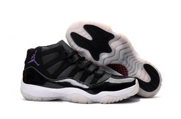 628041bc96a419 Nike Air Jordan XI 11 Retro Black Purple Royal White Space Jam 2016 New Men  Shoes 378037-041