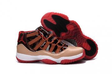 e2dfb014681d Nike Air Jordan XI 11 Retro Men Shoes Basketball Sneakers Beige Black Red  Leopard 378037