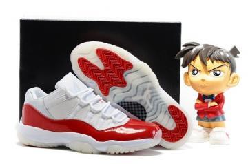 new product 376de f4a4f Nike Air Jordan Retro 11 XI Low Cherry White Varsity Red Men Shoes 528895  102