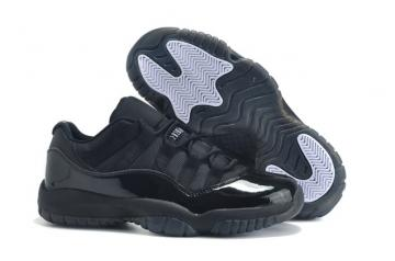 85e6aed42c7125 Nike Air Jordan XI 11 Retro Low AJ11 All Black Men Shoes 528895