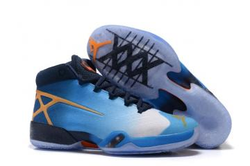 quality design 733c0 9dda0 Nike Air Jordan XXX 30 University Blue Orange Dark Blue Men Shoes 811006