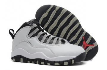 b6ce8253851aab Nike Air Jordan 10 X Retro Steel White Black Red Women Shoes 310806 103