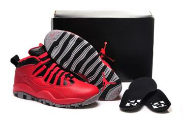 ca1a6e4ccd4 Nike Air Jordan 10 X Retro Red Black Chicago Flag Women Shoes 705416