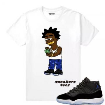dbd0c9d4e1c Match Jordan 11 Space Jam 2016 Kodak Spacejams White T-shirt