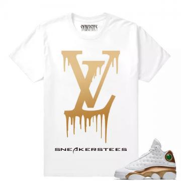 2c923eaca7f Match Air Jordan 13 DMP LV Drip White T shirt