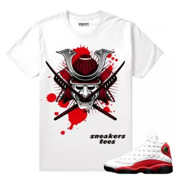 0ddbdfee365 Match Jordan 13 OG Chicago Dxpe Samurai White T-shirt
