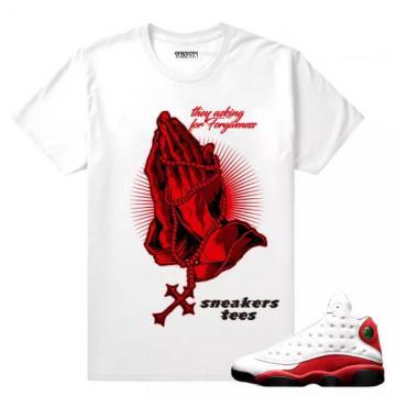 309597b2edd Match Jordan 13 OG Chicago Forgiveness White T-shirt