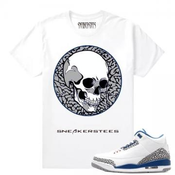 b1e09e6203d68e Match Jordan 3 True Blue OG DXPE SKULL White T shirt