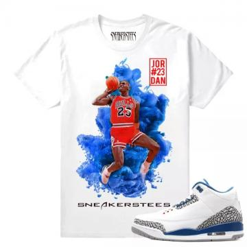 f722023f852c74 Match Jordan 3 True Blue OG True Blue MJ x Dirty Sprite White T shirt
