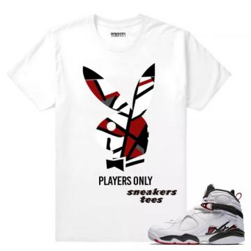 6eccc6c18e4 Match Jordan 8 Alternate Players Only White T-shirt
