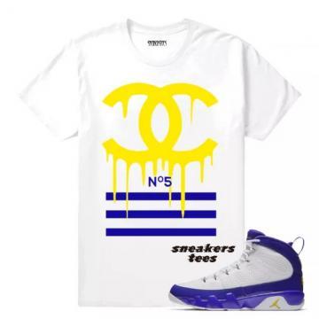 e333e7776e9 Match Jordan 9 Kobe Designer Drip White T-shirt
