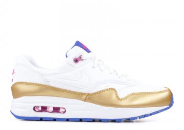 super popular f729b 9f0d6 Nike Air Max 1 GS White Metallic Gold 807605-103