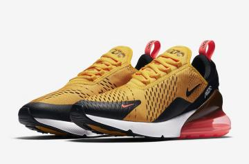 79f75841b8 Nike Air Max 270 Black University Gold Black University Gold-Hot  Punch-White AH8050-004