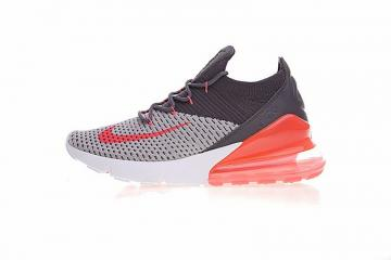 reputable site 93f5c dee3d Nike Air Max 270 Flyknit Black Light Grey Orange White AO1023-202