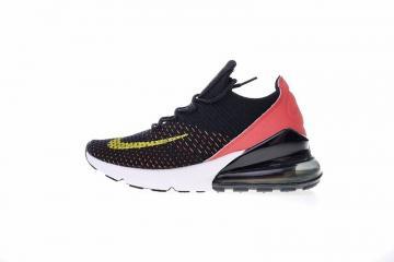 86fdd5b3ef Nike Air Max 270 Flyknit Black Red Yellow Sports Shoes AH6803-003