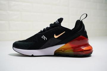 5c8495f89b Nike Air Max 270 Flyknit Black White Orange Sneakers AH6789-016