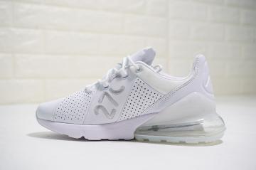 d59fdb0d43 Nike Air Max 270 Premium White Silver Breathable Casual AO8283-100