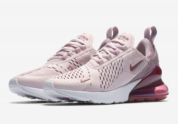 Nike WMNS Air Max 270 Barely Rose Vintage Wine-Elemental Rose-White AH6789 -601 a2de5280f