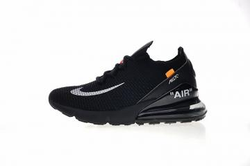 1eced1855f OFF white x Nike Air Max 270 Flyknit Black White Orange AH8050-101