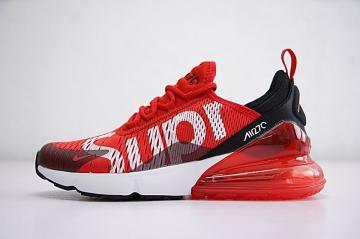 4c852f99b5 Supreme x Nike Air MAX 270 University Red White Black Running Shoes  AH8050-610