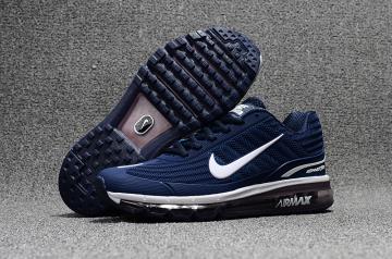 new concept d8acd 770d2 Nike Air Max 360 KPU Running Shoes Men Deep Blue White 310908-401