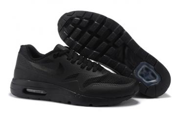 timeless design 06517 3d3d9 Nike Air Max 1 Ultra Essential Triple Black Men Women Running Shoes 819476 -001