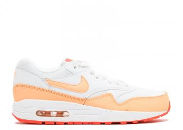 half off fbb61 61780 Wmns Air Max 1 Essential White Sunset Hot Lava Glow 599820-114