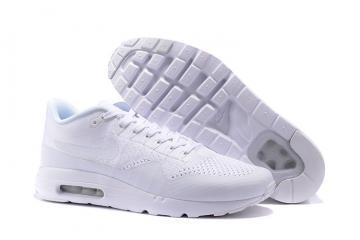 3baa47ebe91 Nike Air Max 1 Ultra Flyknit Men Women Lifestyle Running Shoes Triple White  843384-006