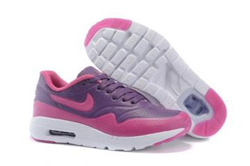 34b95e68ee Nike Air Max 1 Ultra Moire CH Purple Rose Red Pink Kid Children Shoes  705297-028