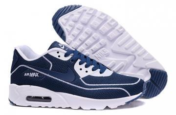 watch 4461b 8759f Nike Air Max 90 Fireflies Glow Men Running Shoes BR Dark Blue White  819474-400