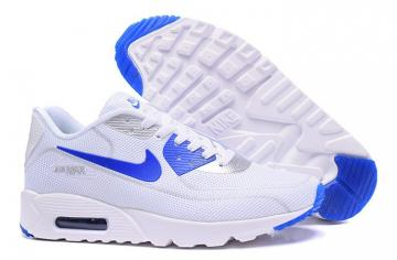 competitive price 9ea98 1014f Nike Air Max 90 Fireflies Glow Men Running Shoes White Royal Blue 819474-700