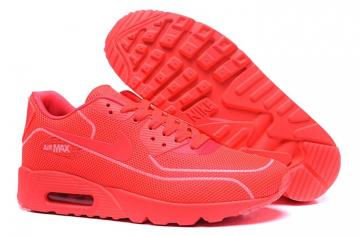 outlet store 2ef8b ef569 Nike Air Max 90 Fireflies Glow Women Running Shoes BR All Red 819474-008